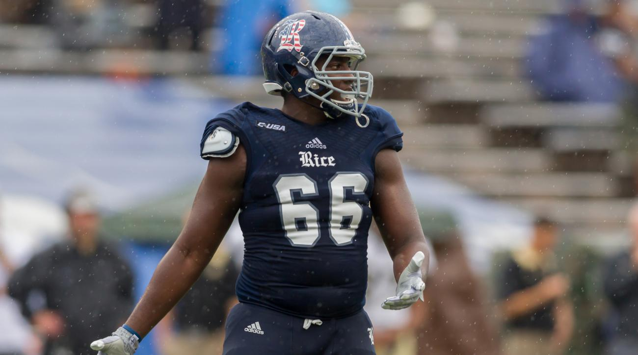 rice football calvin anderson rubiks cube behind back video