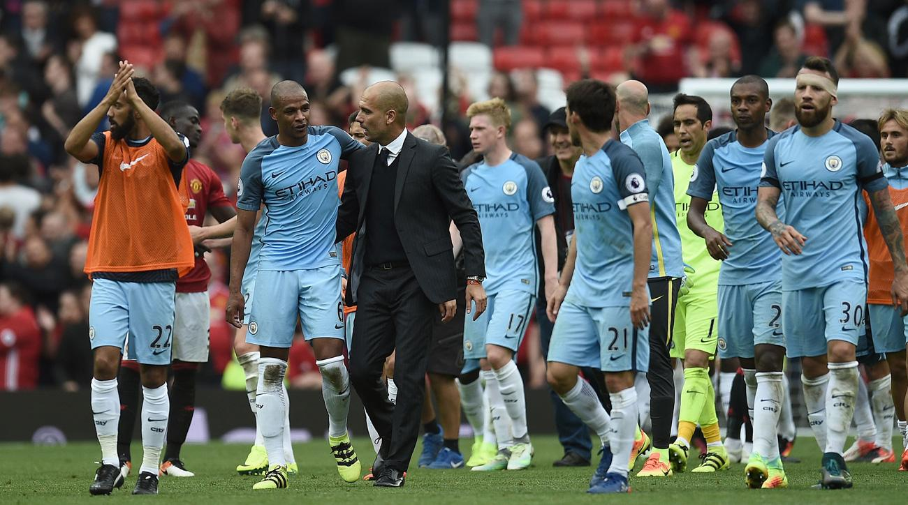 Pep Guardiola and Manchester City took the first derby of the weekend