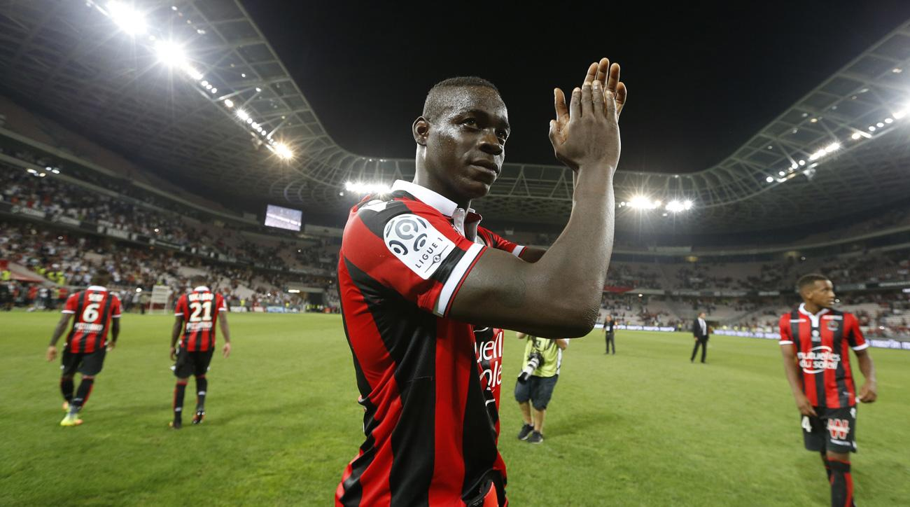 Mario Balotelli scored two goals in his debut for Nice