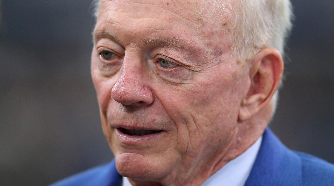 jerry jones dallas cowboys national anthem protest