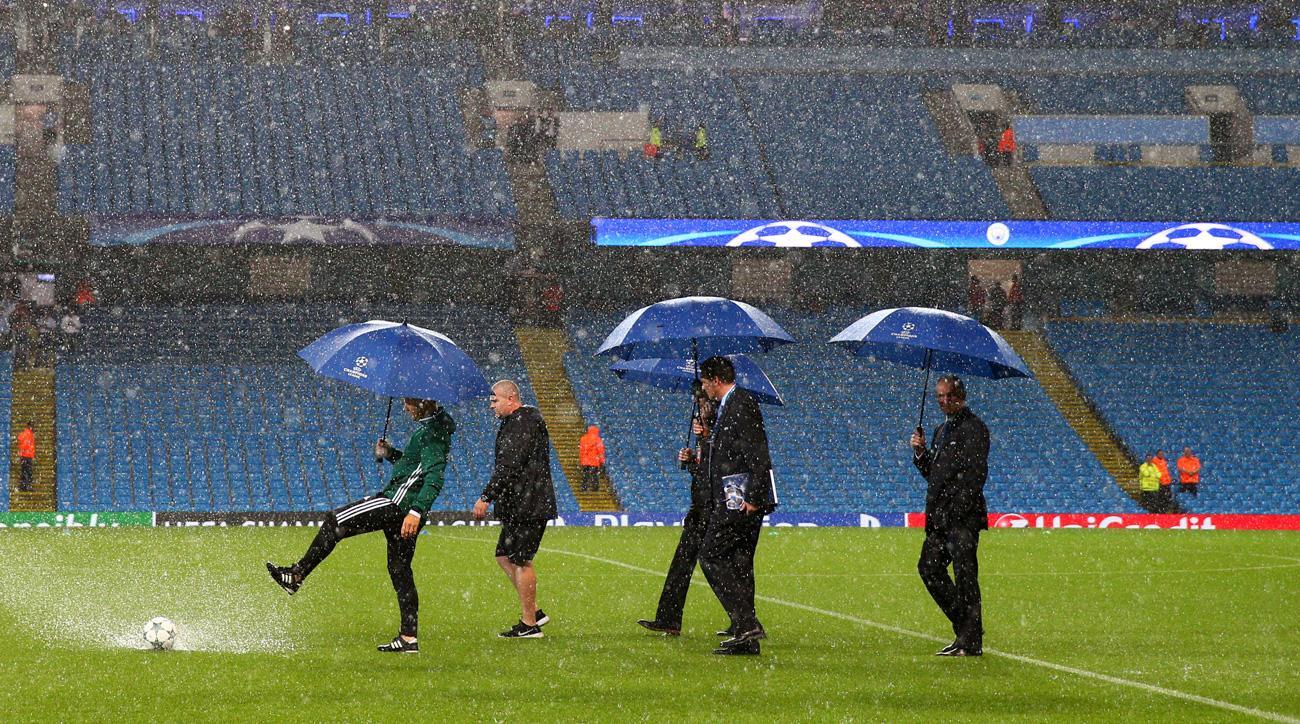 Manchester City's Champions League match vs. Borussia Monchengladbach was postponed