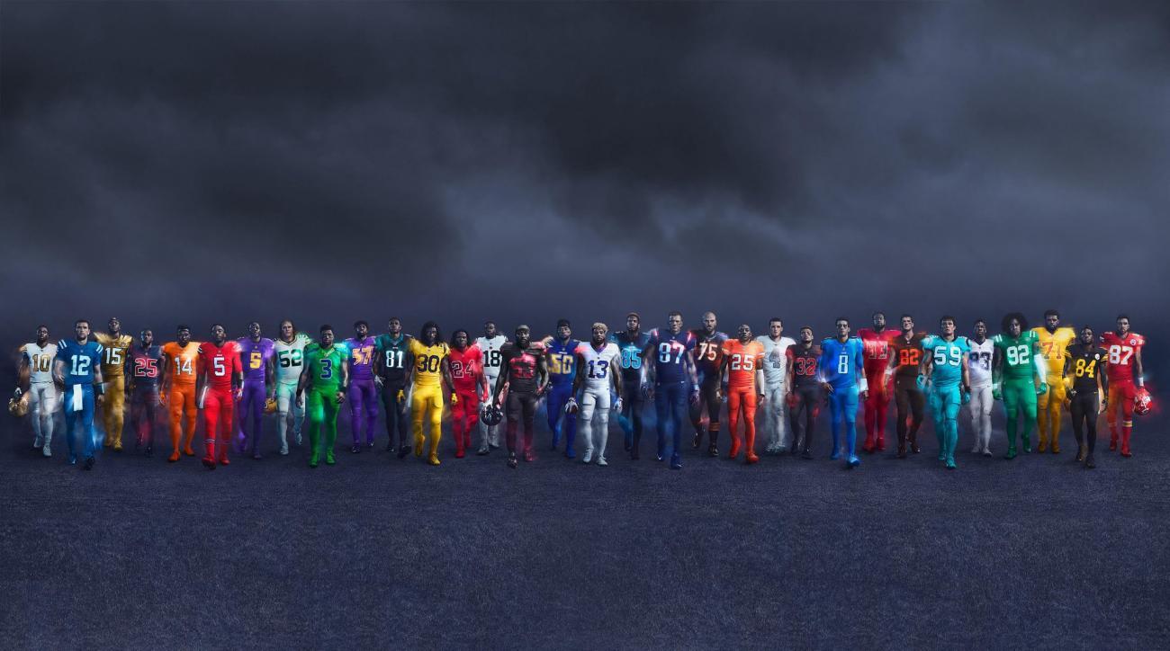 NFL color rush uniforms jerseys ranked