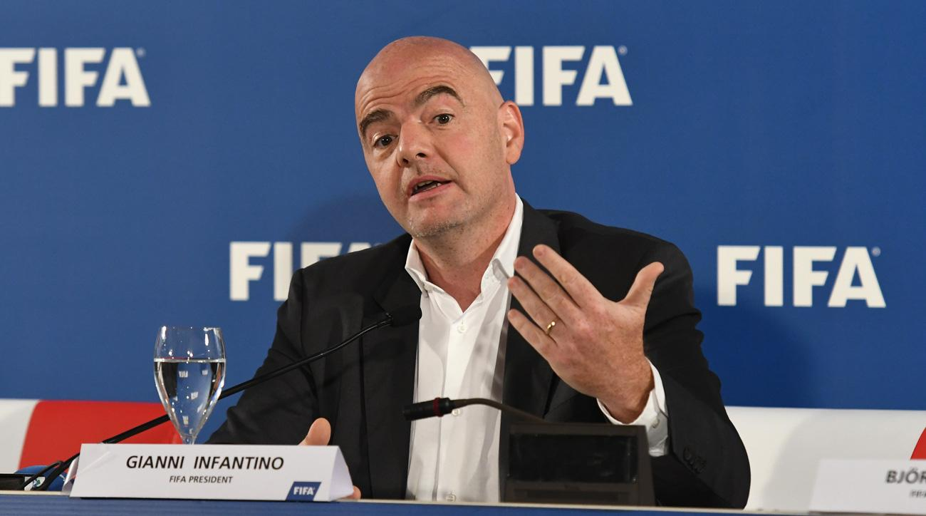 FIFA president Gianni Infantino is in favor of a 40-team World Cup