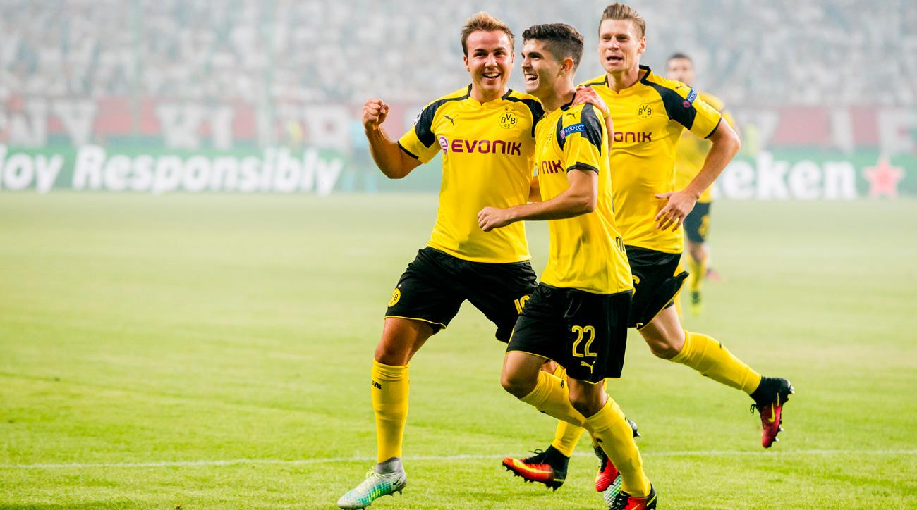 Christian Pulisic notches an assist for Borussia Dortmund in the Champions League