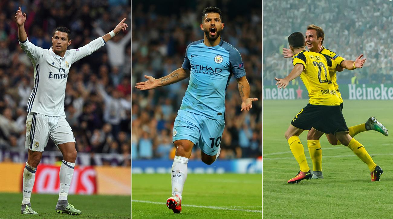 Real Madrid, Manchester City and Borussia Dortmund all win in the Champions League
