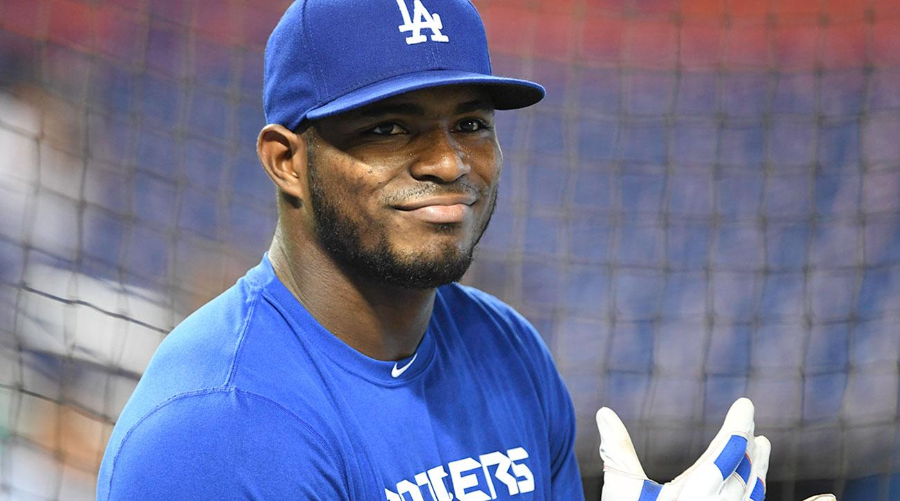yasiel puig lost tooth dodgers