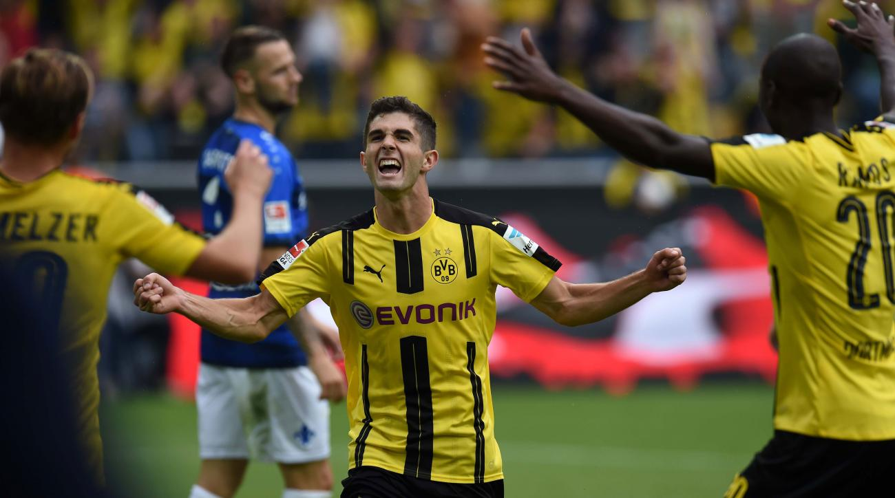 christian pulisic goal dortmund video