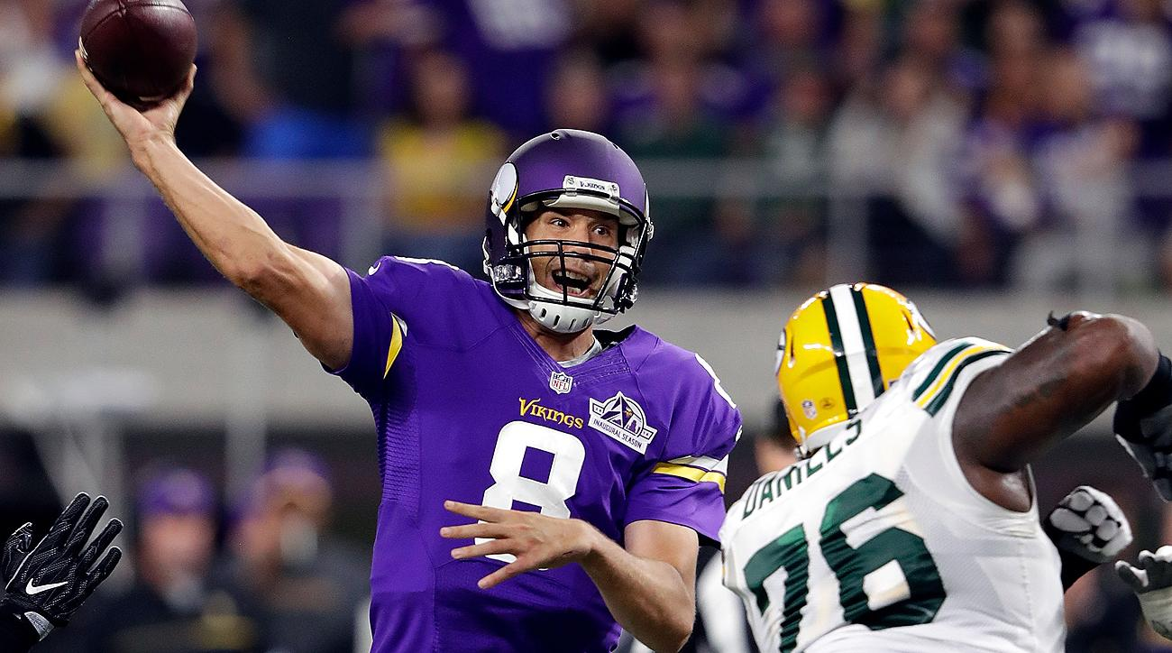 In his first start as a Viking, Sam Bradford threw a pair of touchdown passes in a win over the Packers.