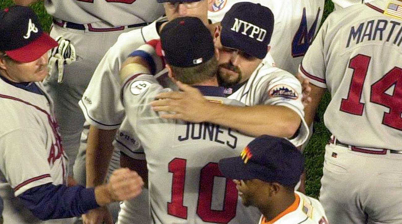 chipper jones mike piazza home run 911