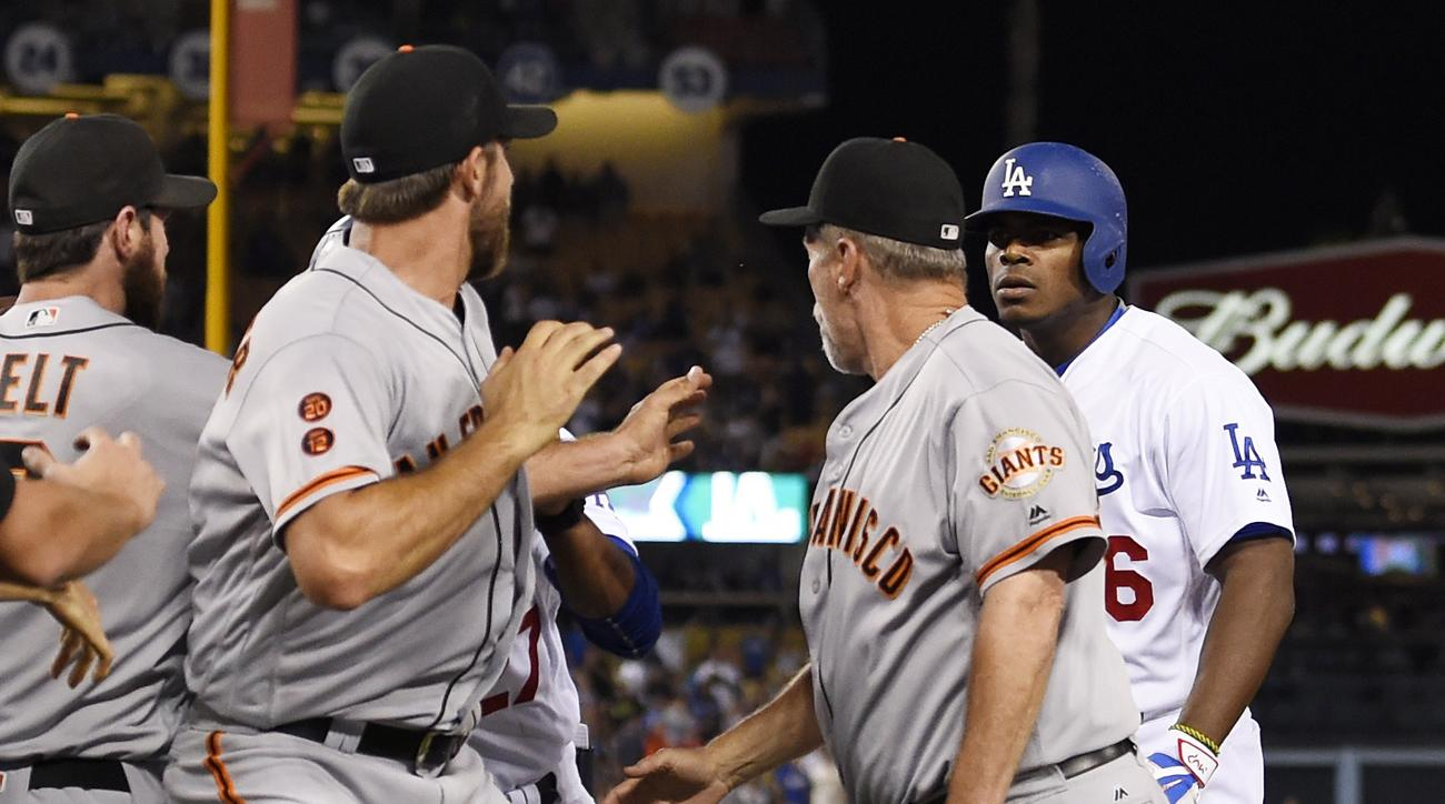 madison bumgarner yasiel puig brawl
