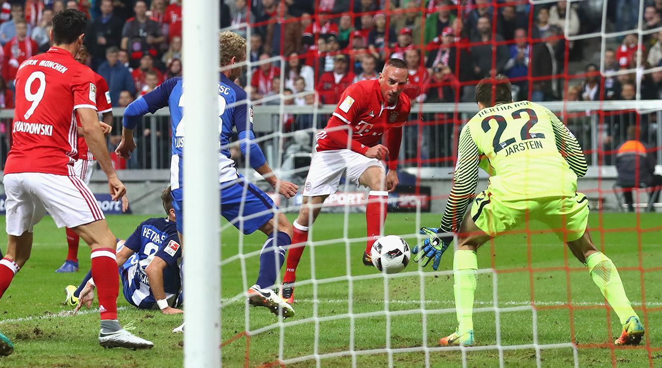 franck ribery goal video bayern munich hertha berlin