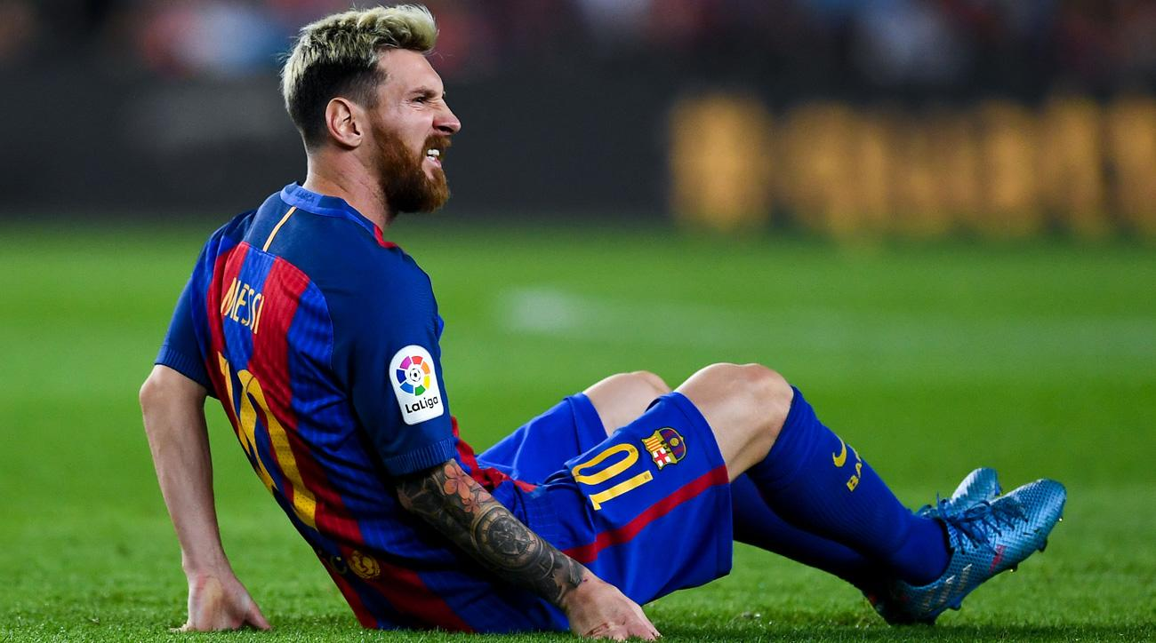 Lionel Messi will miss three weeks after suffering a groin injury