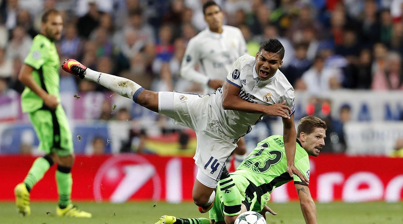Casemiro will miss time for Real Madrid with a fractured leg