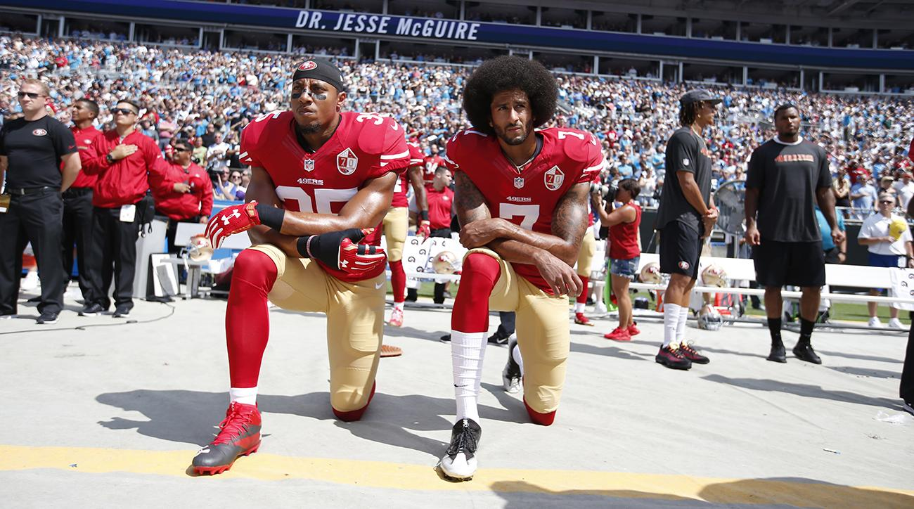 colin kaepernick jim brown protest flag anthem
