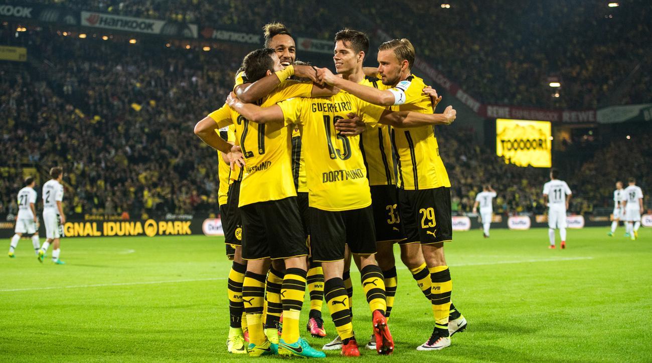 Borussia Dortmund has scored 20 goals in its last four games