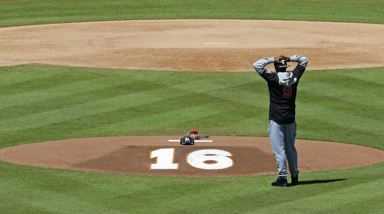 miami marlins jose fernandez number 16 retired