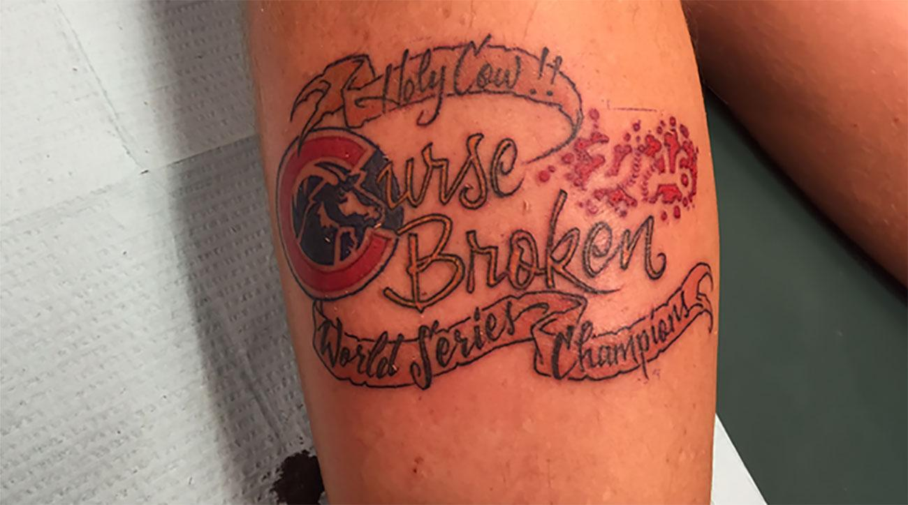 Cubs fan gets world series champions tattoo for World series tattoo