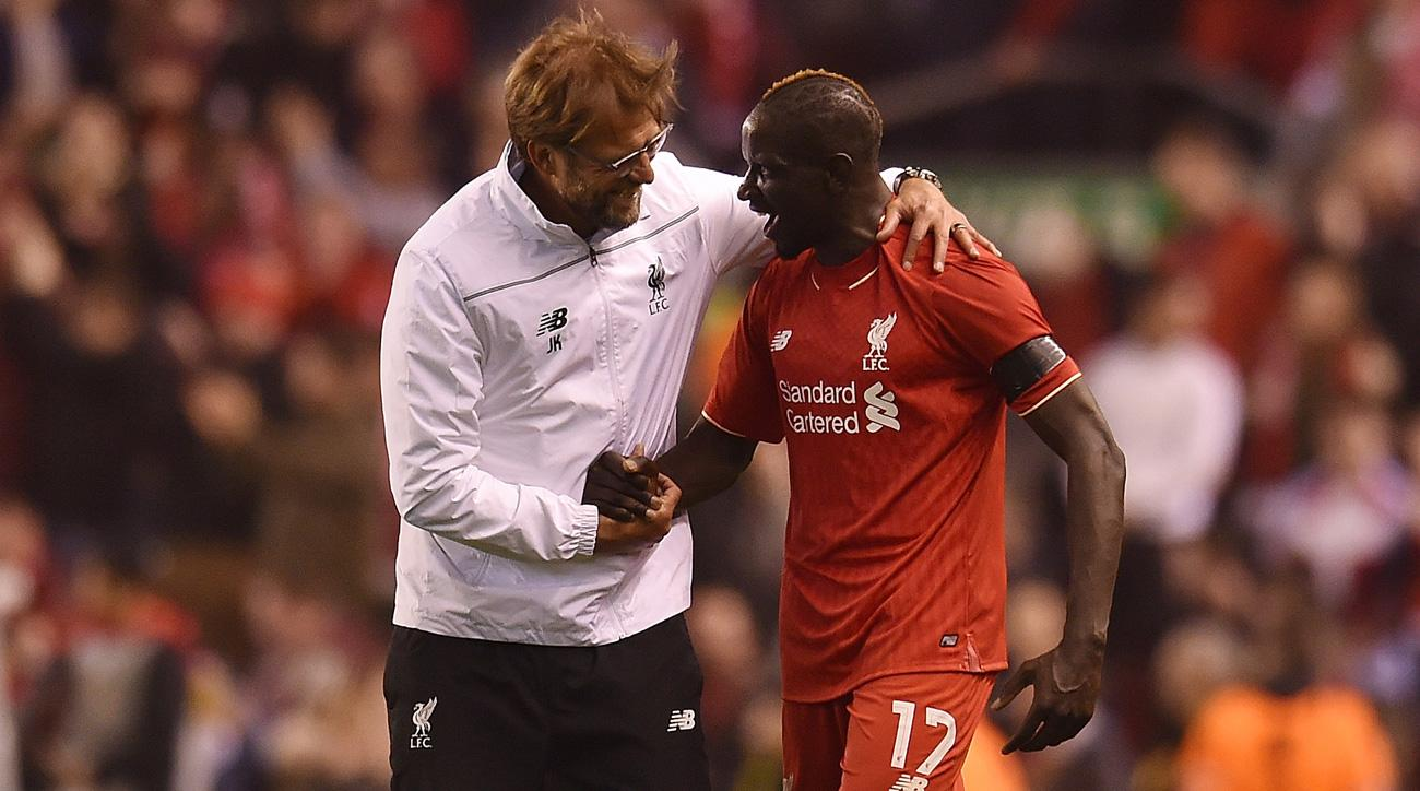 Liverpool manager Jurgen Klopp and out-of-favor player Mamadou Sakho