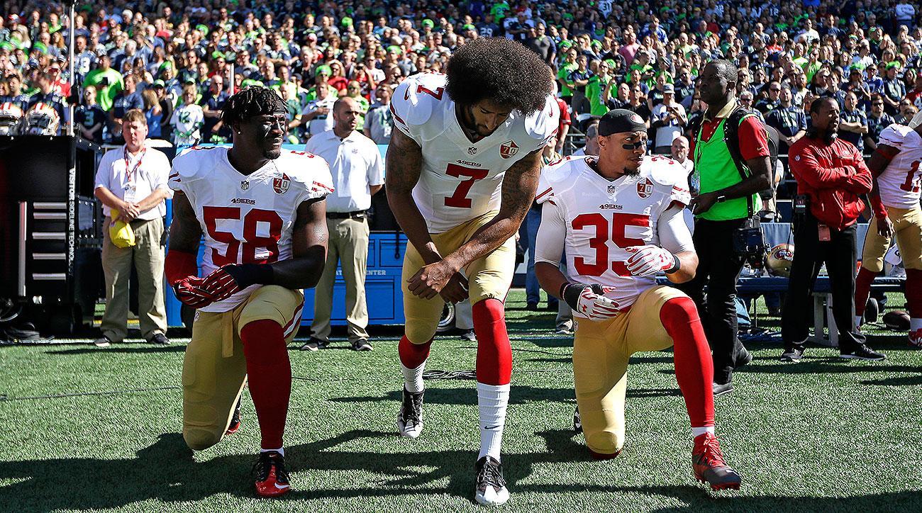 Colin Kaepernick news: NFL national anthem protests challenge critics' patriotism