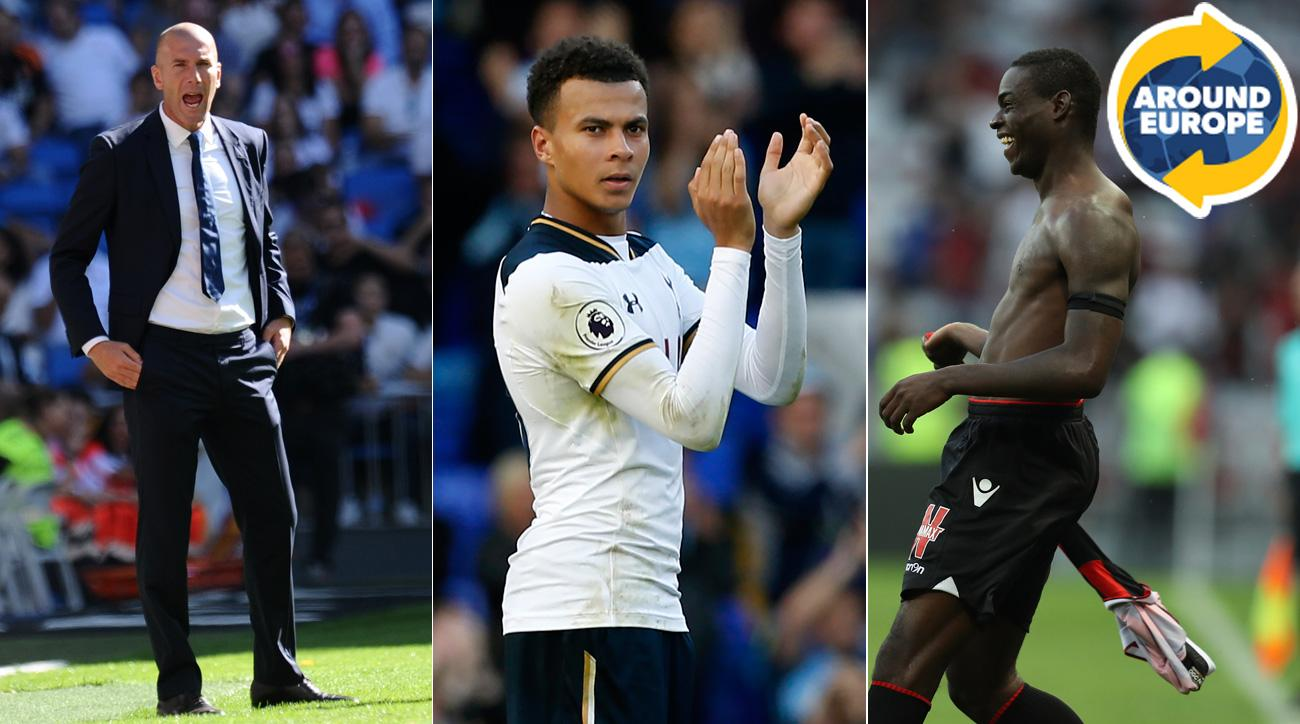 Zinedine Zidane, Dele Alli and Mario Balotelli headlined the weekend in Europe.