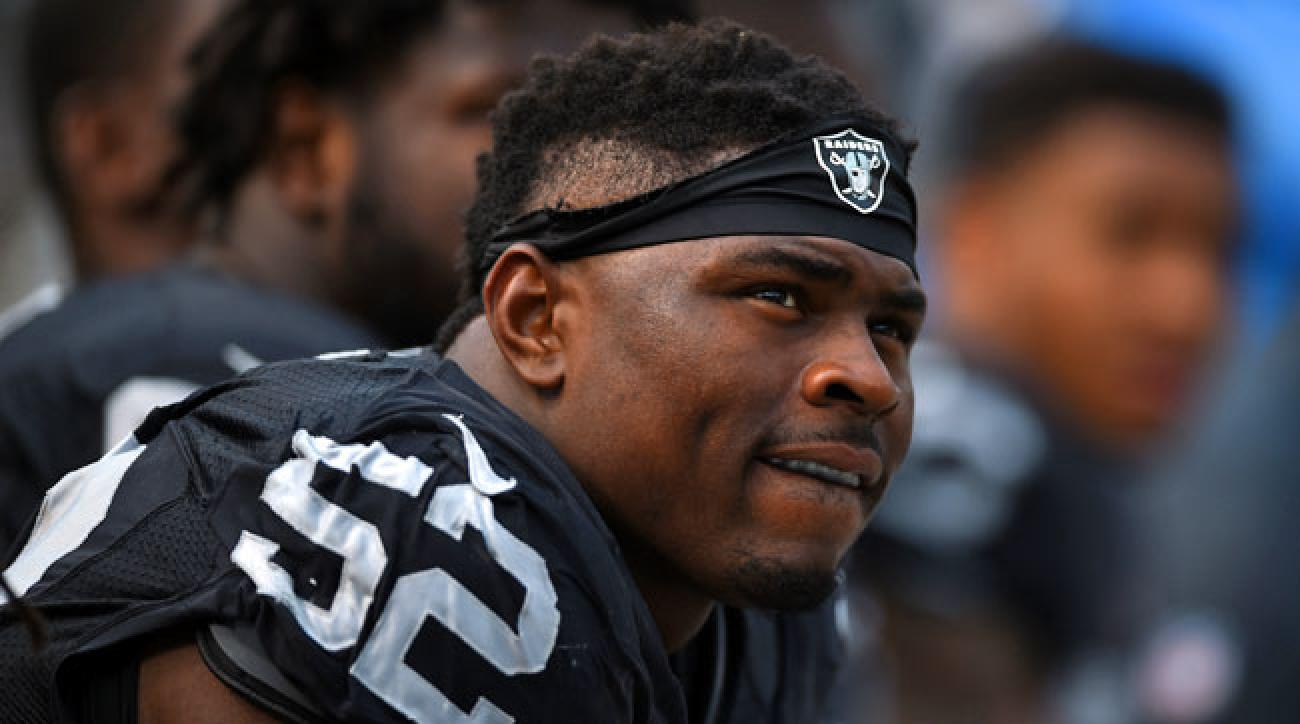 Oakland Raiders defensive end Khalil Mack picked up his first sack of the season against the Ravens in Week 4.