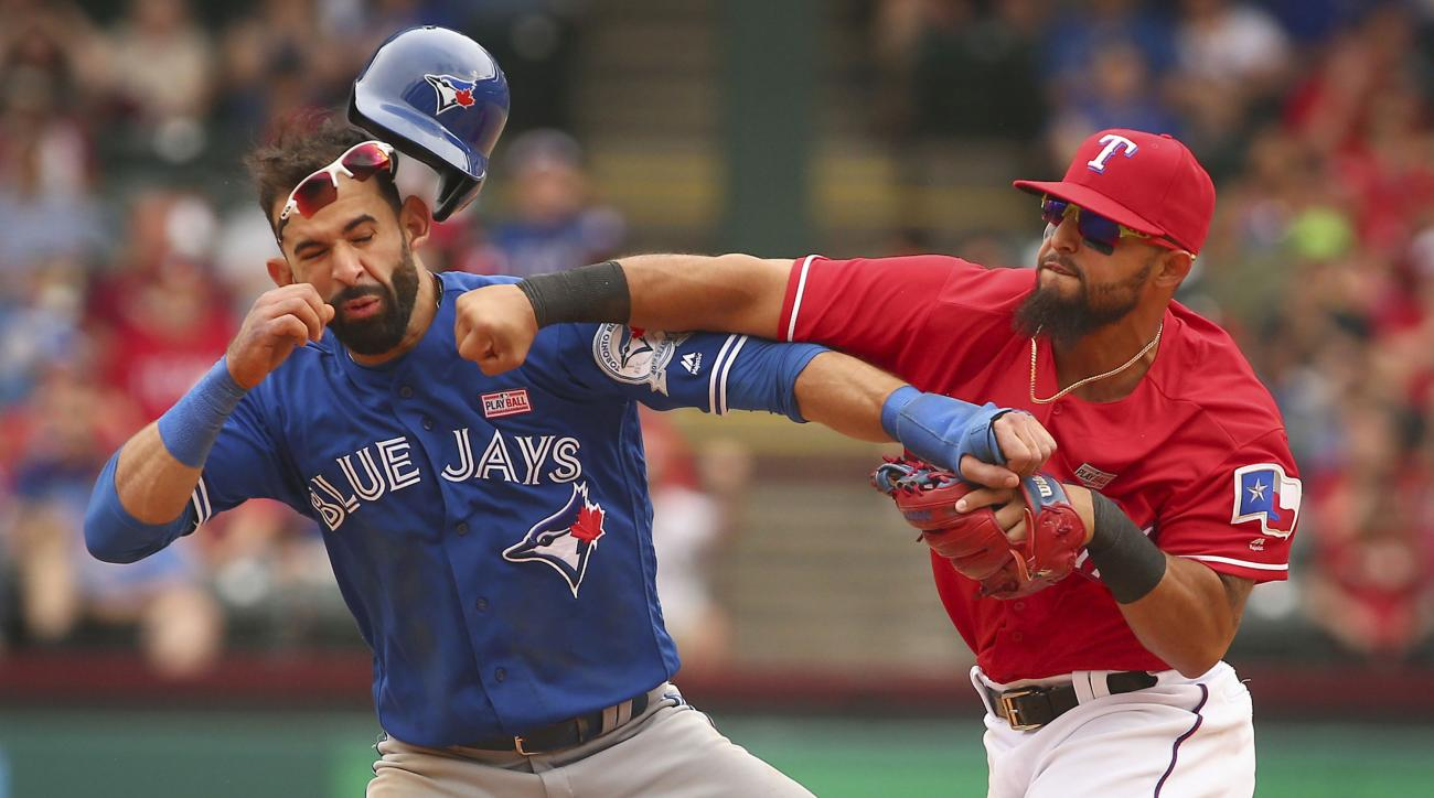 blue jays rangers rivalry brawl timeline