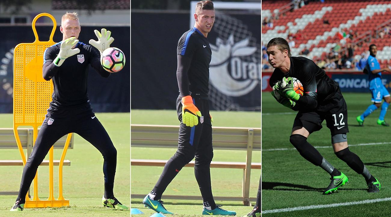 U.S. goalkeepers William Yarbrough, David Bingham and Ethan Horvath are vying for a regular place with the national team