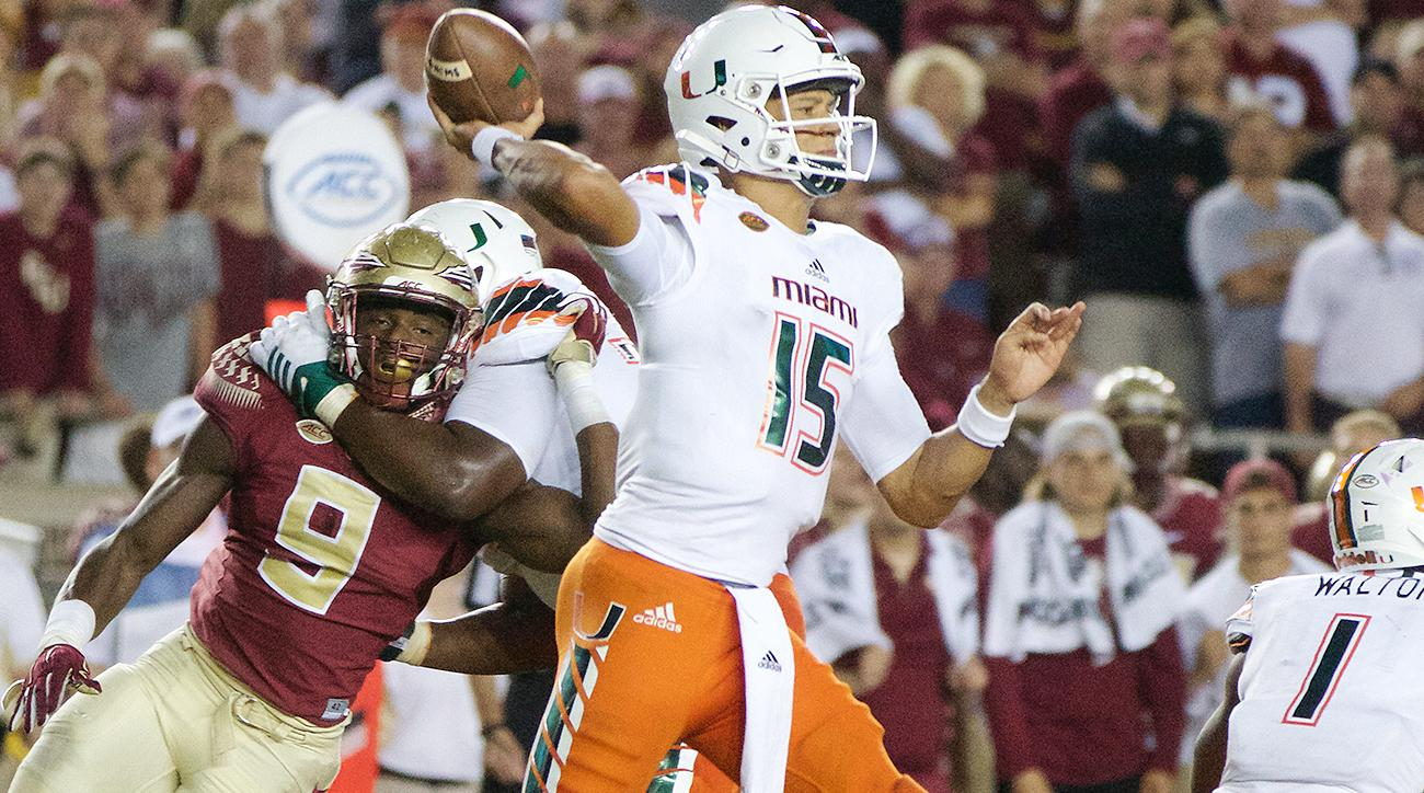 brad-kaaya-miami-florida-state-college-football-odds-week-6