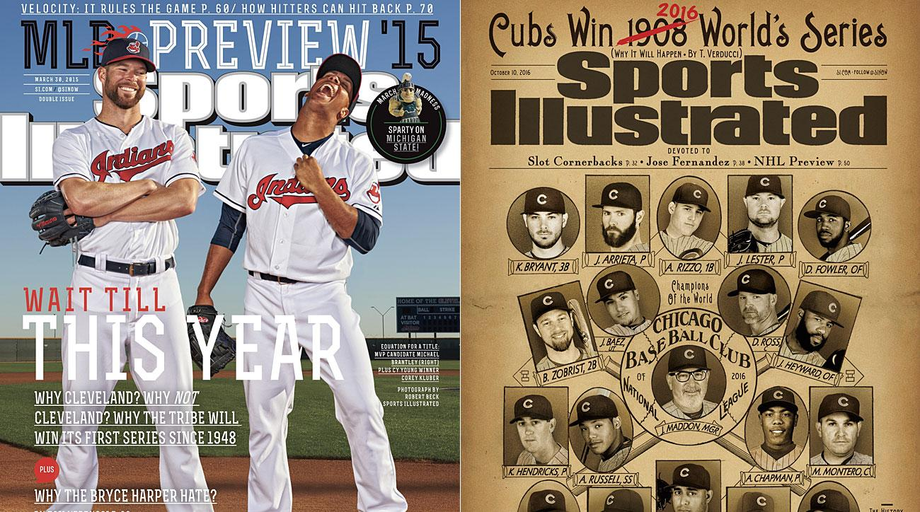 Corey Kluber and Michael Brantley, Cleveland Indians; 2016 Chicago Cubs