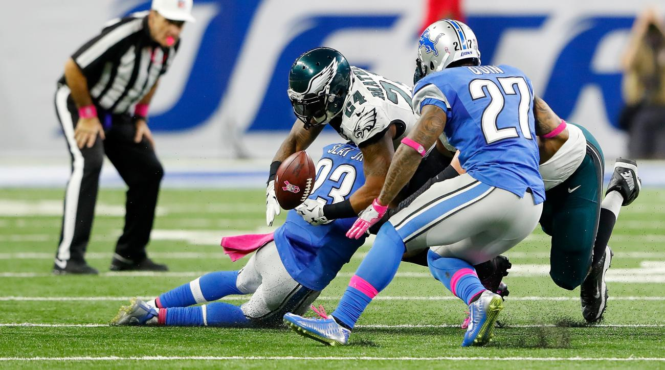 eagles lions ryan mathews fumble call video