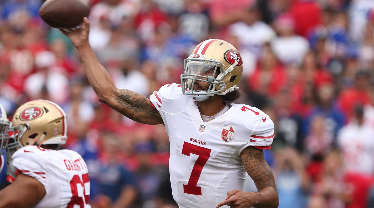 colin kaepernick to start 49ers vs buccaneers