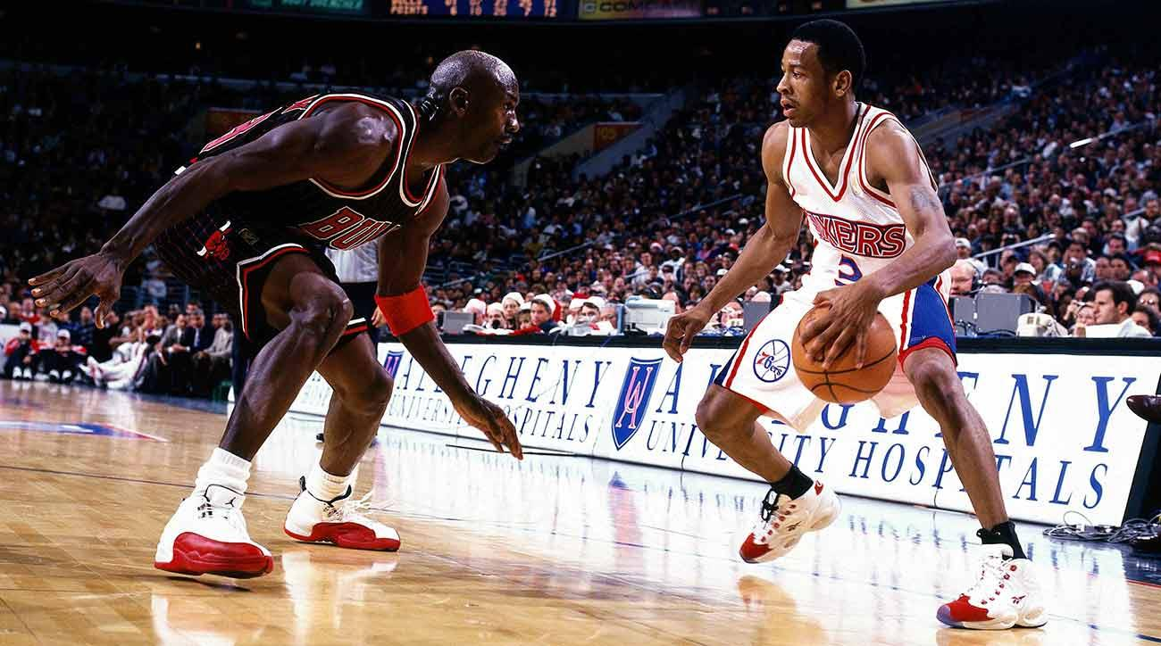 Michael Jordan and Allen Iverson