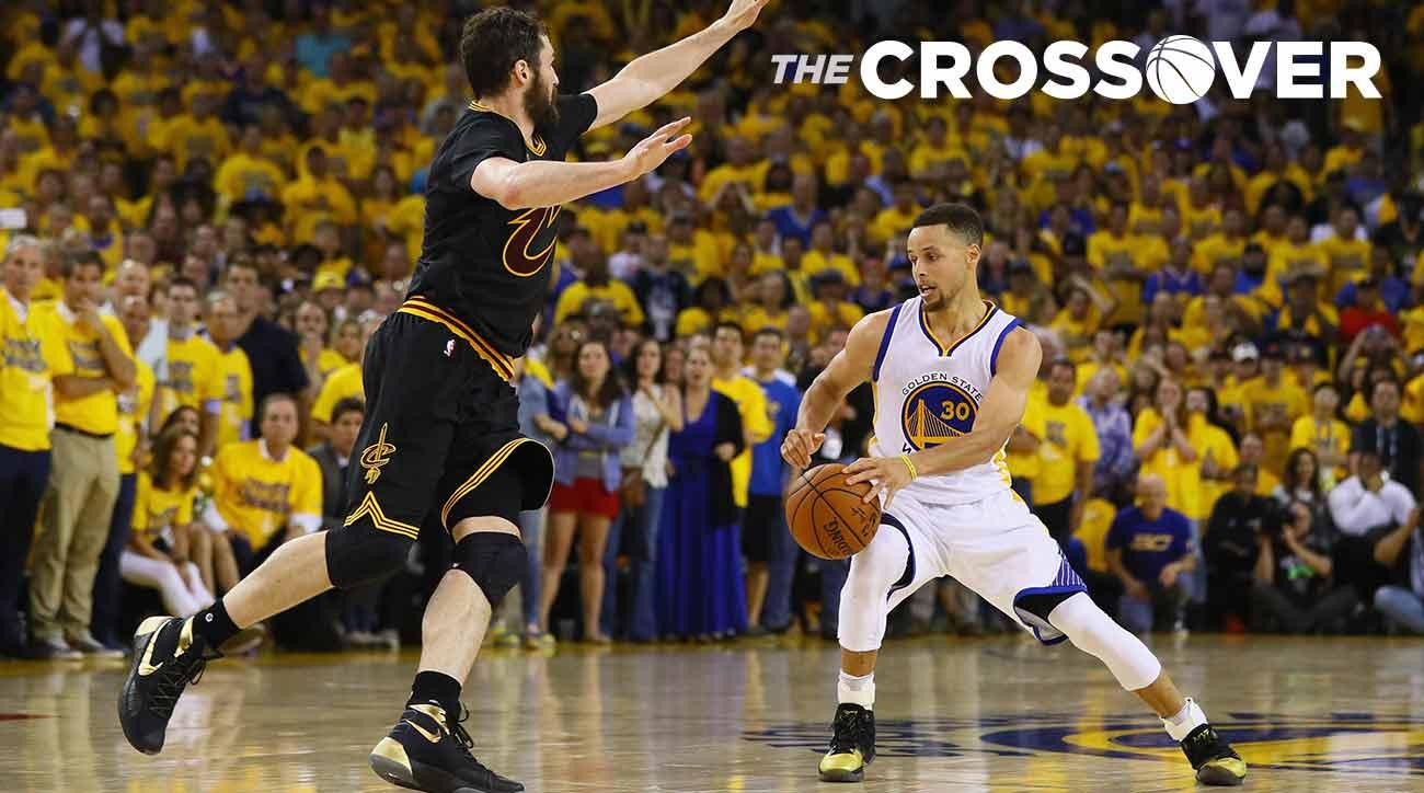 Kevin Love and Stephen Curry