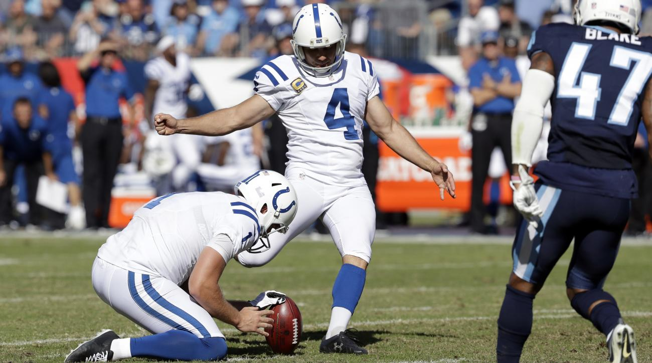 Adam Vinatieri: Colts kicker sets field goal record