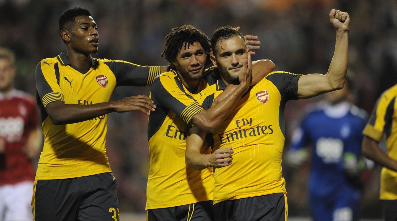 arsenal goal nottingham efl cup