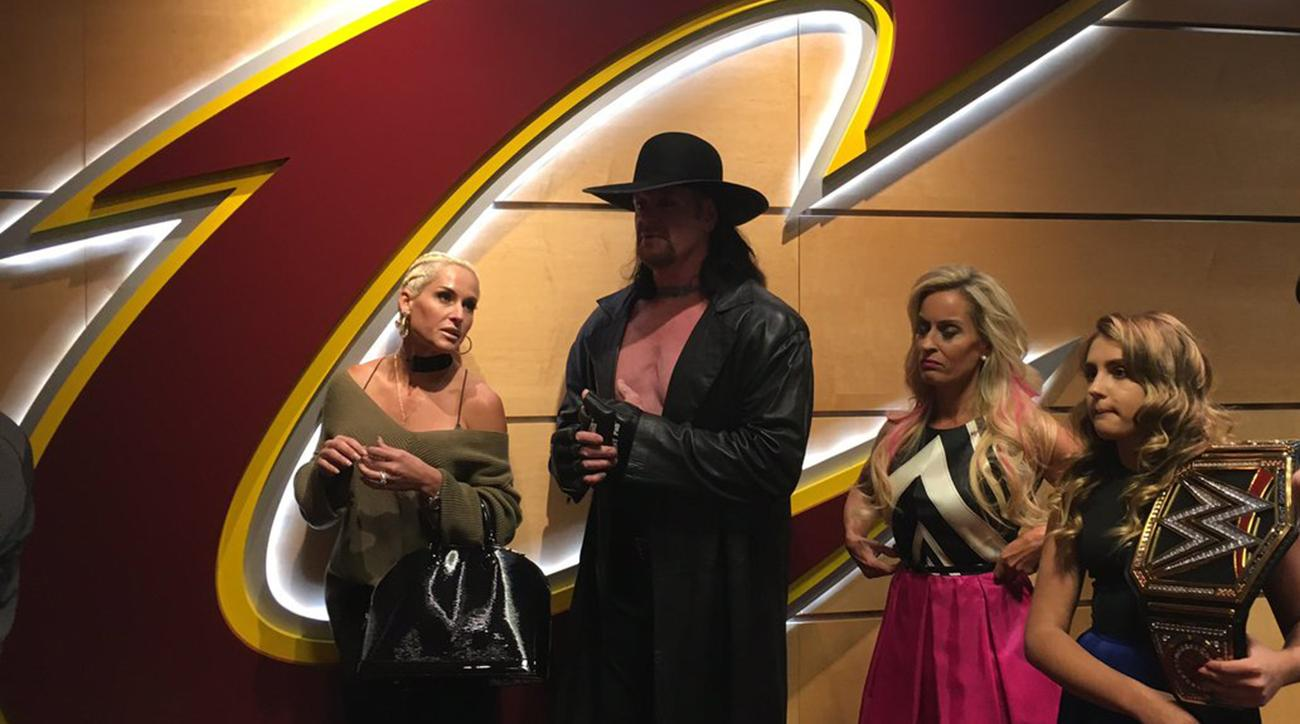 the undertaker is at the cavs game