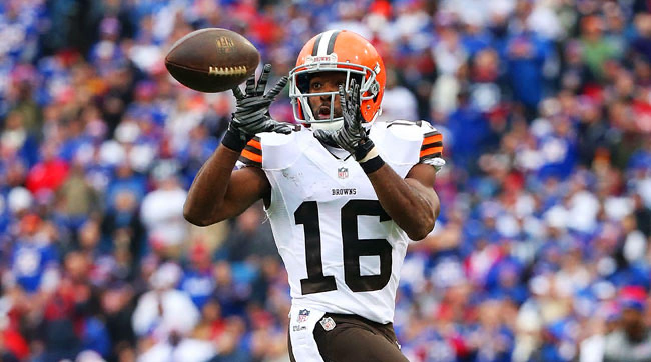 Cleveland Browns wideout Andrew Hawkins.