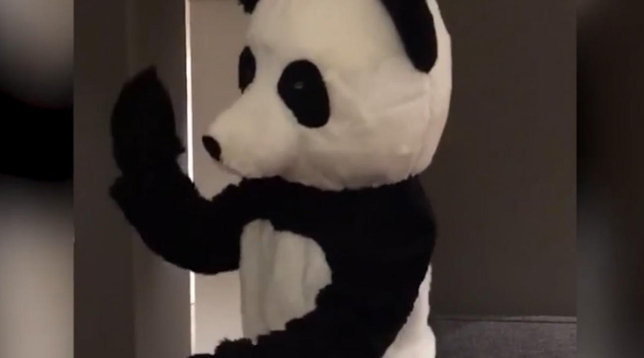 Patrice Evra takes stand vs  racism–dancing in a panda suit (VIDEO