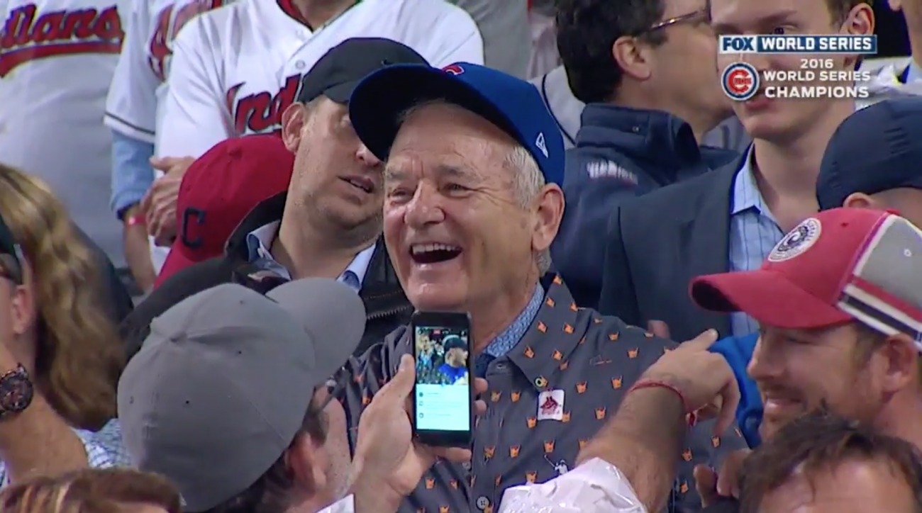 9f250403170 World Series  Bill Murray reacts to Cubs win (video)