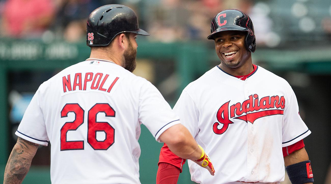 Mike Napoli and Rajai Davis, Cleveland Indians