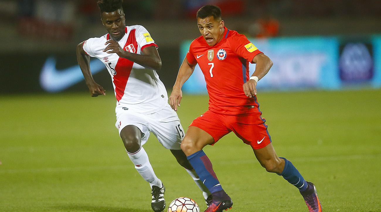 Chile will play Colombia in a World Cup qualifier on Thursday.