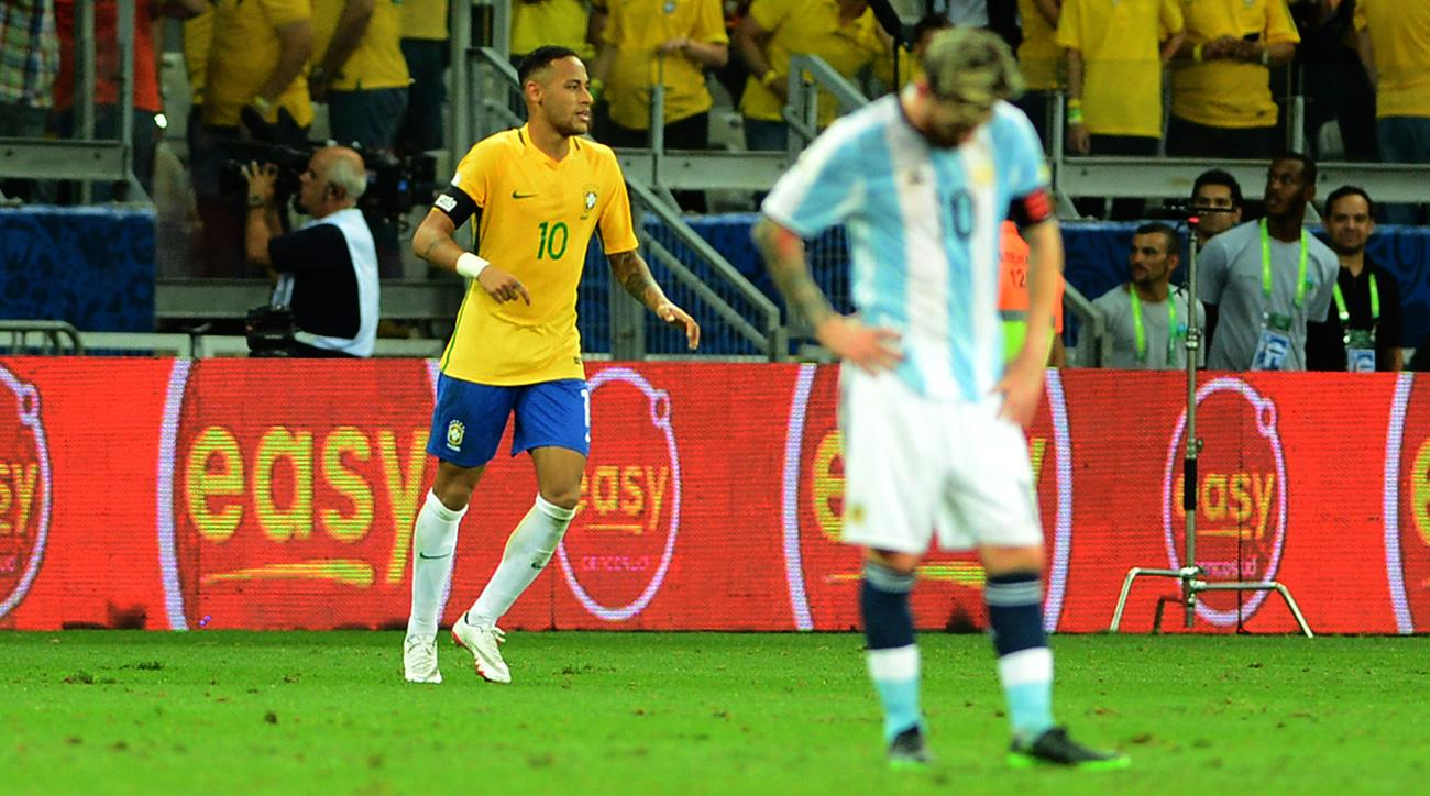 Neymar and Brazil rout Messi and Argentina in World Cup qualifying