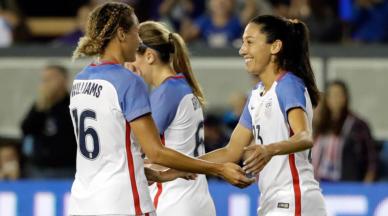 Christen Press scored a hat trick for the USA vs. Romania