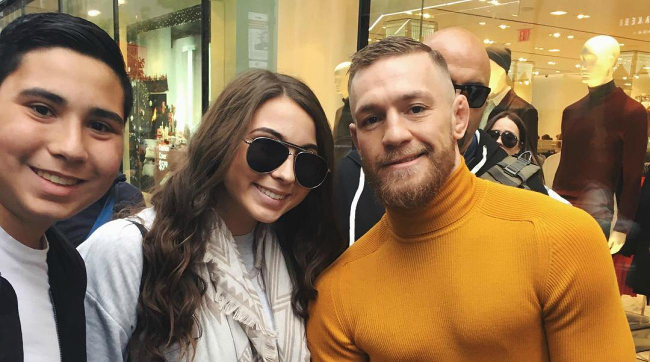Conor McGregor crops fan out of Instagram photo
