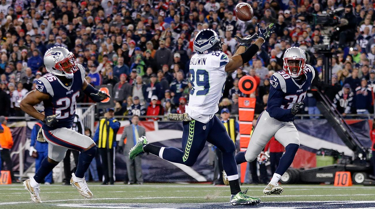 Doug Baldwin scored three touchdowns in Seattle's win over New England on Sunday.