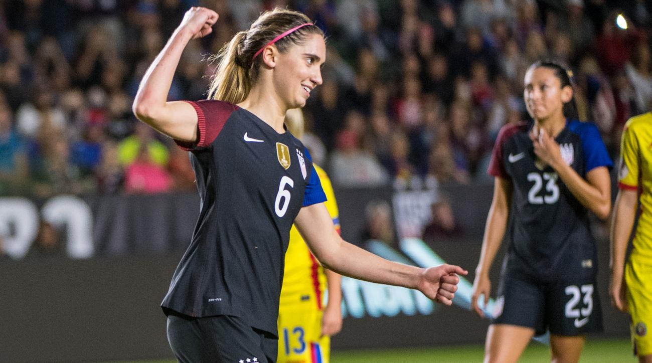 Morgan Brian scores for the USA vs. Romania