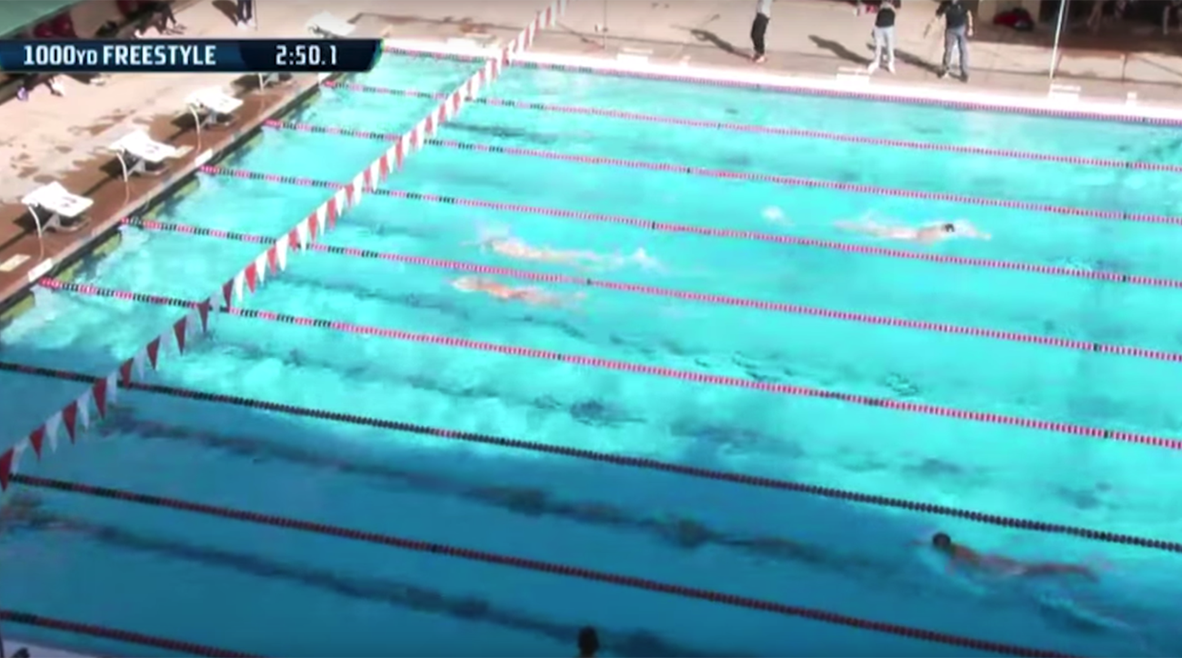 Katie Ledecky breaks NCAA record by over 20 seconds