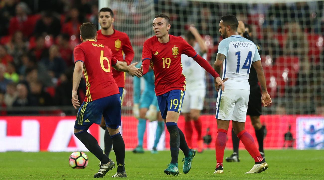 Spain and England play to a 2-2 draw at Wembley Stadium