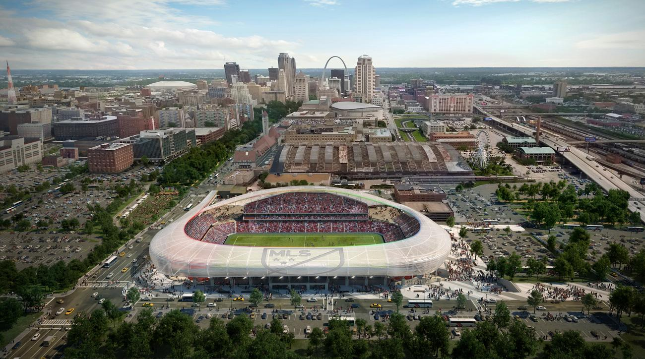 St. Louis's proposed stadium for an MLS expansion franchise