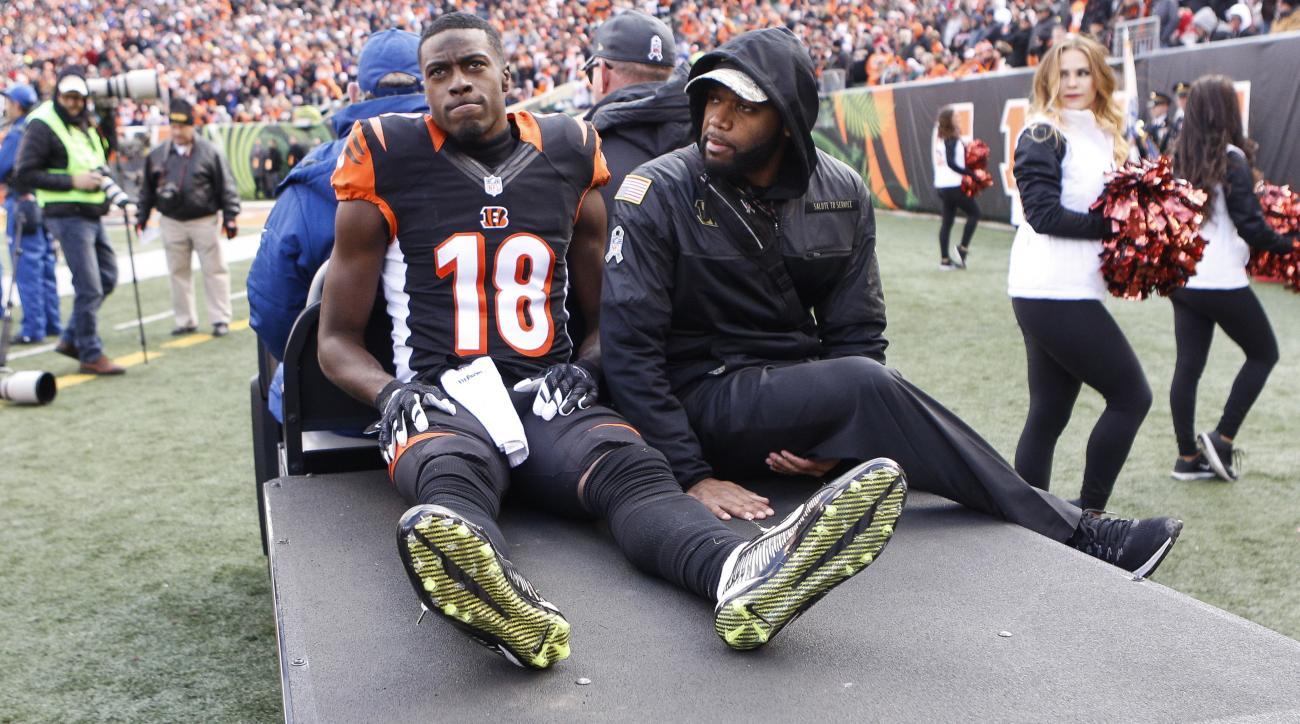 AJ Green injury: Bengals WR hurts hamstring vs Bills